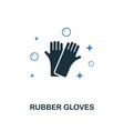rubber gloves icon creative two colors design vector image vector image