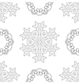 Seamless Pattern Set of Rosettes vector image