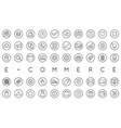 set e-commerce icons shopping and online can vector image vector image
