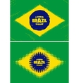 Set grunge halftone Brazil flags 2016 vector image