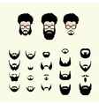 set hipster style haircut glasses vector image vector image