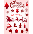 Set of Christmas elements for design vector image