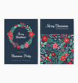 set of christmas party invitation event vector image