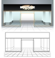 shop or boutique view vector image vector image