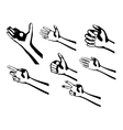 silhouette hands vector image vector image