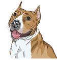 sketch portrait of dog vector image vector image