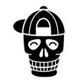 skull baseball cap icon simple style vector image vector image