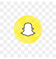 snapchat social media icon design template vector image vector image