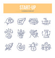 start-up doodle icons vector image
