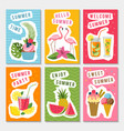 summer party labels set with different vector image vector image