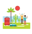 Summer trip Vacation Tourism Travel concept Happy vector image