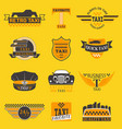 taxi logos label badge templates design vector image vector image
