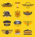taxi logos label badge templates design vector image