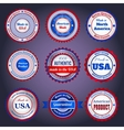 trade labels and stickers on made in usa vector image