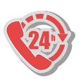 twenty four hours service icon vector image