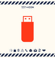 usb flash memory drive icon vector image vector image