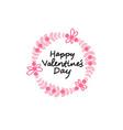 valentine day label calligraphic sticker icon love vector image vector image