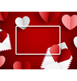 valentine s background with paper letters and vector image vector image