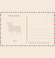 vintage postcard design vector image vector image