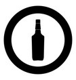 whisky icon black color in circle vector image vector image