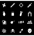 white terrorism icon set vector image vector image