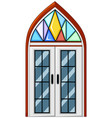 window with mosaic glass vector image vector image