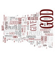you are empowered god text background word vector image vector image