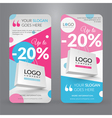 Set with banner for website vector image