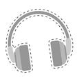 single headphones icon image vector image