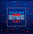4th july celebration party background vector image vector image