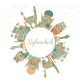 Abstract Hyderabad Skyline with Color Landmarks vector image vector image