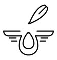 aloe drop icon outline style vector image vector image