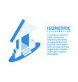 bank icon isometric template vector image vector image