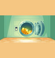 bank vault with open safe door vector image