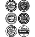 black and white vintage labels collection 6 vector image vector image
