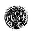 Black and white winter typography poster or card vector image vector image