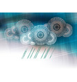 blue background computer white cloud vector image vector image
