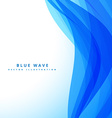blue wave background design vector image vector image