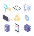 business and technology - modern colorful vector image