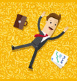 businessman lying on the money gold coins vector image vector image