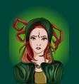 cancer girl zodiac sign astrology cartoon vector image vector image