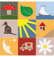 children patchwork vector image vector image