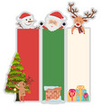 christmas banner template with tree and santa vector image vector image