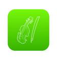 contrabass icon green vector image vector image