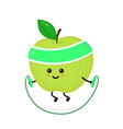 cute smiling happy strong apple vector image vector image