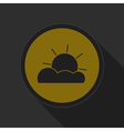 dark gray and yellow icon - partly cloudy vector image vector image