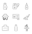 Diagnostic equipment icons set outline style vector image vector image