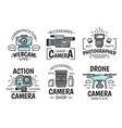 digital devices camera and webcam icons vector image vector image