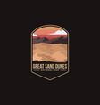 emblem logo great sand dunes national park vector image vector image