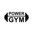 fitness gym logo sign bodybuilding club emblem vector image vector image